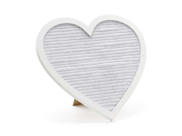 letter bord hartvorm