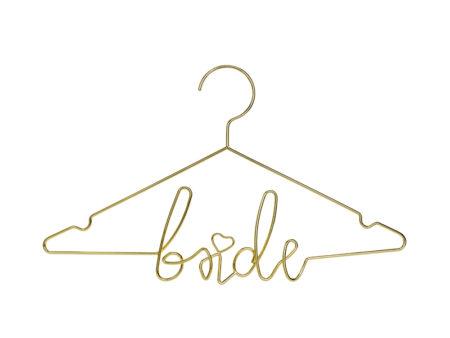 Jurk, bruidsjurk, hanger, kledinghanger, metaal, goud, bruiloft, bride, fotomoment