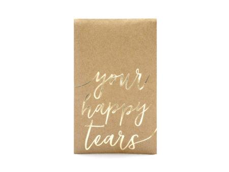 Happy, tears, zakdoekjes, ceremonie, kraft, goud
